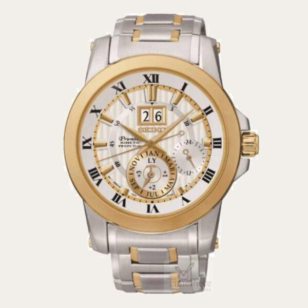 6e6aaf99d SEIKO Premier Kinetic Perpetual Men Watch SNP094P1 | TimePieceStore ...