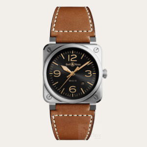 BELL AND ROSS BR 03-92 Golden Heritage Men Watch [BR0392-GH-ST/SCA]