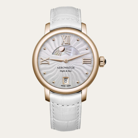 44938RO15 AEROWATCH Renaissance Night & Day Ladies Watch
