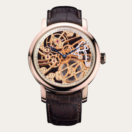50931RO01 AEROWATCH Renaissance Big Mechanical Skeleton Men Watch