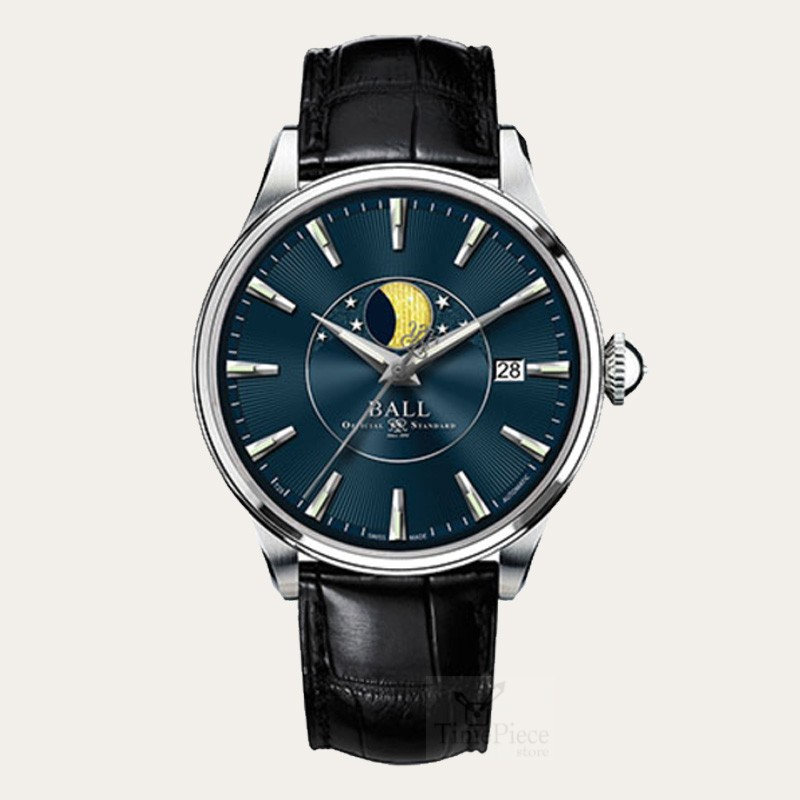 top dive luxury relogios ailang leather item watch phase brand business on from new lunar wristwatch watches mens in moon mechanical